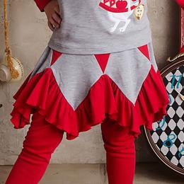 Lemon Loves Lime Wonderland Adventure Fairy Patch Skirt - True Red