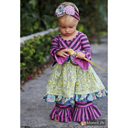 Mustard Pie Emerald Dance Olivia 2pc Dress Set - Emerald Plum