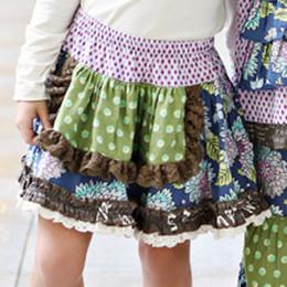 Mustard Pie Emerald Dance Lydia Apron Skirt - Royal Blue