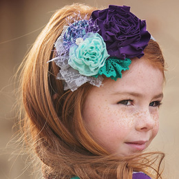 Persnickety Plum Crazy Rosa Headband - Purple