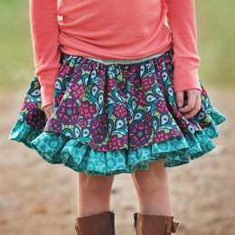 Persnickety Plum Crazy Lily Skirt - Turquoise
