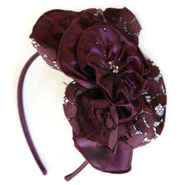 Isobella & Chloe Royal Jewels Hard Headband - Wine