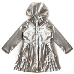 Isobella & Chloe Crystal Raincoat - Silver