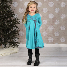 Isobella & Chloe Emerald Isle Empire Waist Dress - Teal