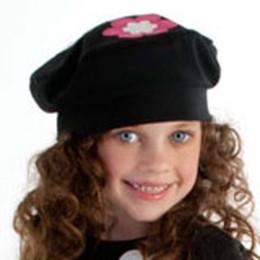 Biscotti Bright Accent Hat - Black / Ivory
