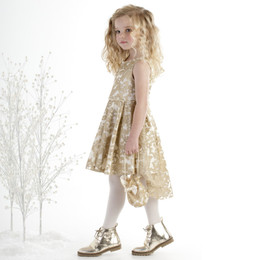 Biscotti Royal Treatment Hi Low Dress - Gold