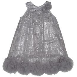 Pretty by Biscotti A-Line Sparkle Dress - Silver