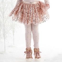 Kate Mack Royal Shimmer Sequin Netting Skirt - Champagne