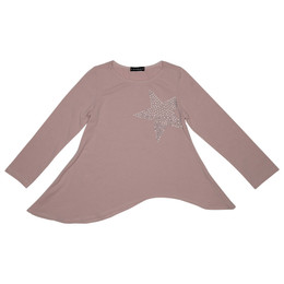 Kate Mack Star Studded Asymmetric Knit Top - Cocoa
