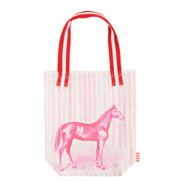 Paper Wings Pink Horse Tote - Pink / Cream