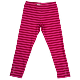 Paper Wings Red Stripe Classic Legging - Maroon / Pink