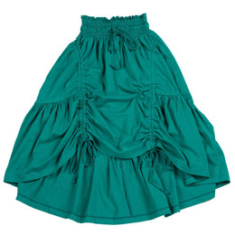 Paper Wings Drawstring Maxi Skirt - Teal