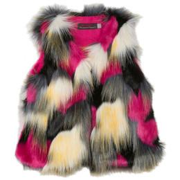 Catimini Queen of the Woods Nomade Faux Fur Vest - Multicoloris