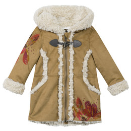 Catimini Queen of the Woods Nomade Hooded Coat - Noisette