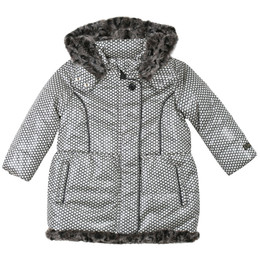 Catimini Young Lady Constellation Graphic City Hooded Coat - Vanille