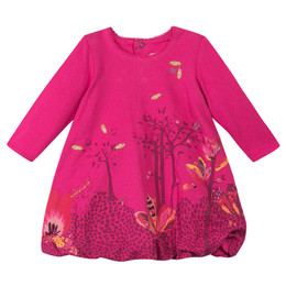 Catimini Queen of the Woods Nomade Bubble Dress - Fuchsia
