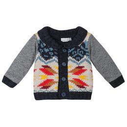Catimini Teepees & Canoes Nomade Cardigan Sweater - Indigo