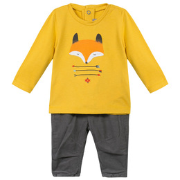 Catimini Teepees & Canoes Nomade 2pc Shirt & Pants Set - Moutarde