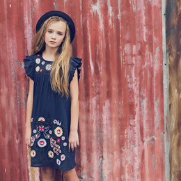 Jak & Peppar Flower Child Dress - Navy Bean