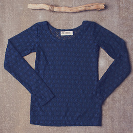 Jak & Peppar Layer Up Long Sleeve - Navy Bean