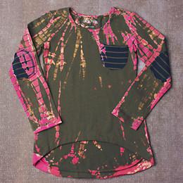 Jak & Peppar High Low Destroyed Slub Knit - Electric Pink Olive