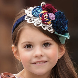 Persnickety Double Dutch Tahira Headband - Blue
