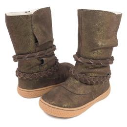 Livie & Luca Calliope Boots - Mocha Sparkle Suede