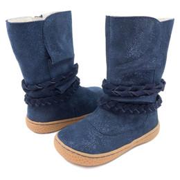 Livie & Luca Calliope Boots - Navy Sparkle Suede