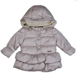 Mayoral Puffer Coat w/Removable Hood - Golden