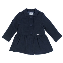 Mayoral Mouflon Wool Peplum Coat - Navy
