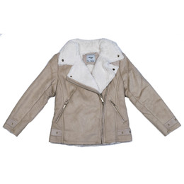 Mayoral Faux Suede Zipper Jacket - Sand