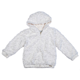 Mayoral Faux Fur Hooded Jacket - Pearl