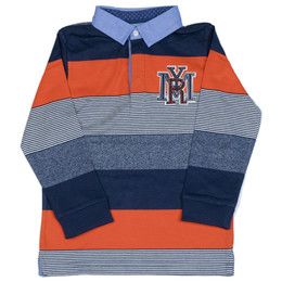 Mayoral Striped Polo Shirt - Tango