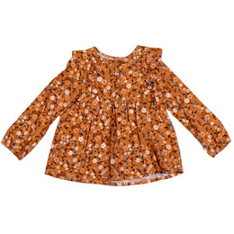 Mayoral Printed Flowers Blouse - Terracotta