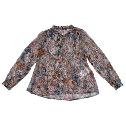 Mayoral Printed Floral Chiffon Blouse - Opal