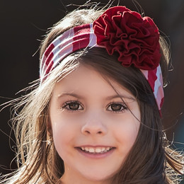 Persnickety Candy Cane Holiday Ava Headband - Red