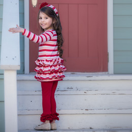 Persnickety Candy Cane Holiday Tess Jacket - Red