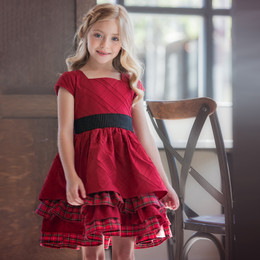Persnickety Parisian Holiday Lisa Dress - Red