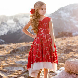 Joyfolie Jacqueline Dress - Crimson