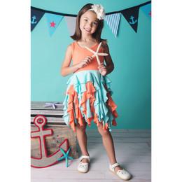 Lemon Loves Lime Coral Reef Dress - Aqua