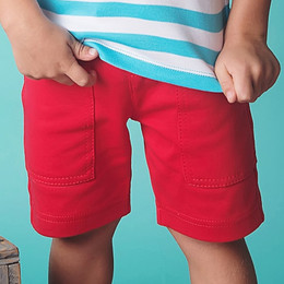 Lemon Loves Lime / Gnu Brand Cargo Short - Tomato