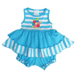 Lemon Loves Lime Layette Turtle Hug Dress - Blue / White