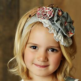 Mustard Pie Sugar Blossom Colette Headband - Grey