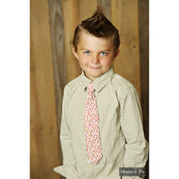 Mustard Pie Sugar Blossom Boy's Neck Tie