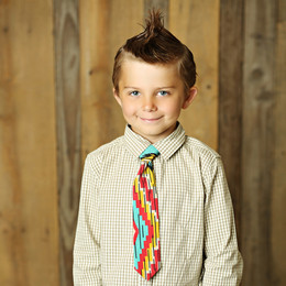 Mustard Pie Sunset Dunes Boy's Neck Tie - Aqua