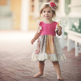 Persnickety Pocket Full Of Posies Penelope Ann Dress