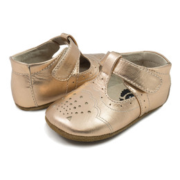 Livie & Luca Cora Baby Shoes - Rose Gold Metallic