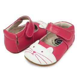 Livie & Luca Kitten Baby Shoes - Hot Pink