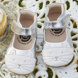 Livie & Luca Kitten Baby Shoes - Platinum