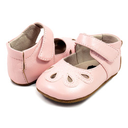 Livie & Luca Petal Baby Shoes - Light Pink Shimmer